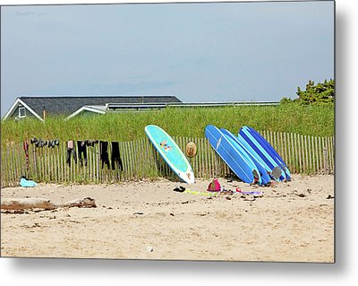 Metal Print featuring the photograph Montauk Beach Stuff by Art Block Collections