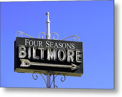 Metal Print featuring the photograph Montecitio Biltmore Sign by Art Block Collections