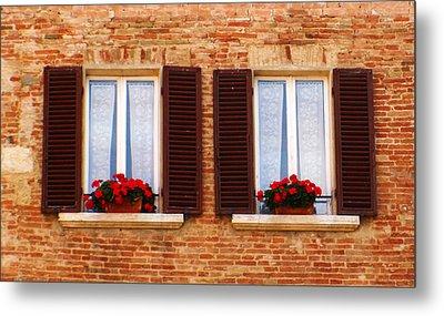 Montepulciano Window Metal Print by Rob Tullis