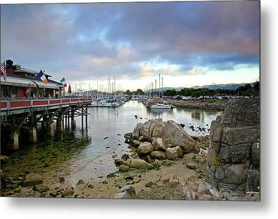 Monterey Harbor - Old Fishermans Wharf - California Metal Print by Brendan Reals