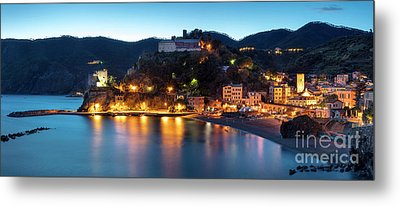 Metal Print featuring the photograph Monterosso Al Mare At Twilight by Brian Jannsen
