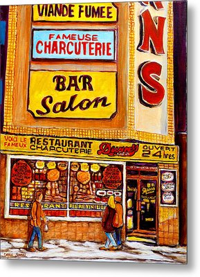 Montreal Paintings Metal Print by Carole Spandau