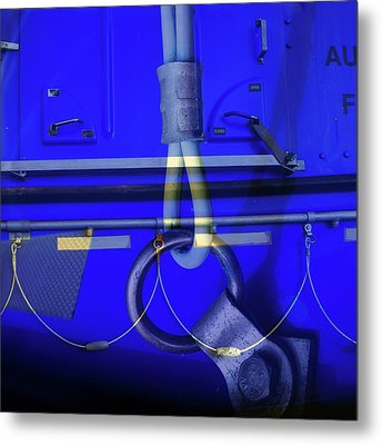 Metal Print featuring the photograph Mood Blue by Wayne Sherriff