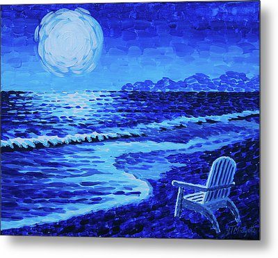 Moon Beach Metal Print by Tommy Midyette