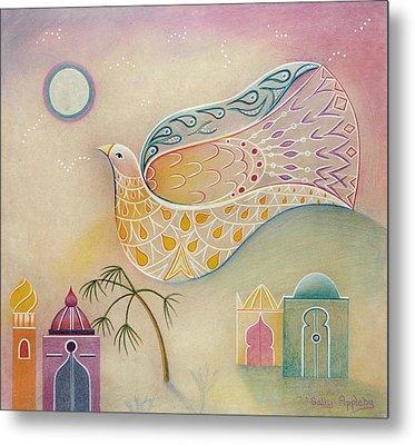 Moon Dove Metal Print by Sally Appleby