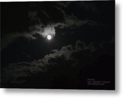Metal Print featuring the photograph Moon In The Sky 2 by Paul SEQUENCE Ferguson             sequence dot net