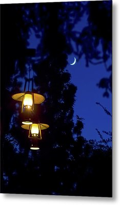 Metal Print featuring the photograph Moon Lanterns by Mark Andrew Thomas