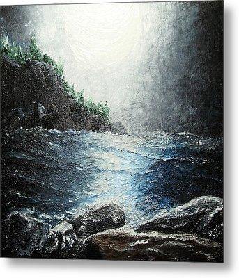 Moon Light On The Ocean Metal Print