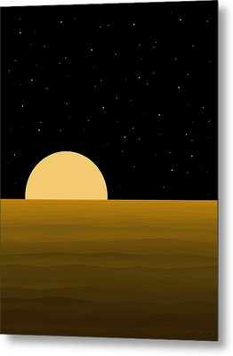 Moon Light Metal Print by Val Arie