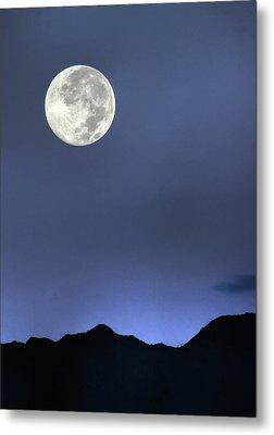 Moon Over Ko'olau Metal Print