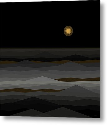 Moon Rise Abstract II Metal Print by Val Arie