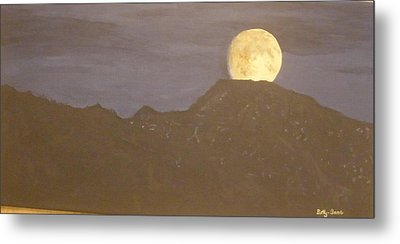 Metal Print featuring the painting Moon Rising by Betty-Anne McDonald