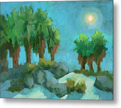 Metal Print featuring the painting Moon Shadows Indian Canyon by Diane McClary