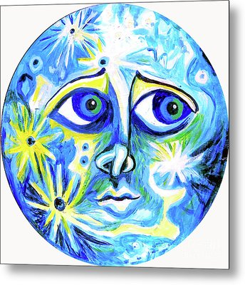 Moonface With Craters Metal Print