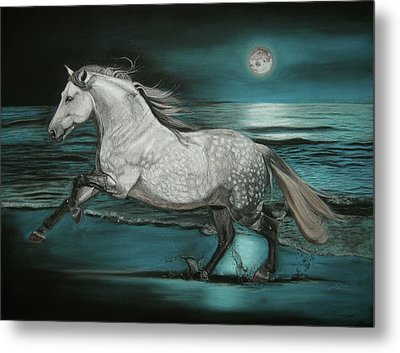 Moonlight Dancer Metal Print by Sabine Lackner