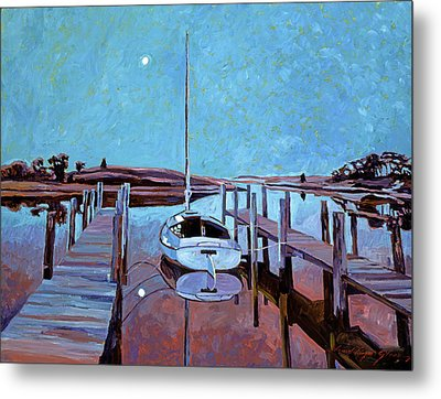 Moonlight On The Bay Metal Print