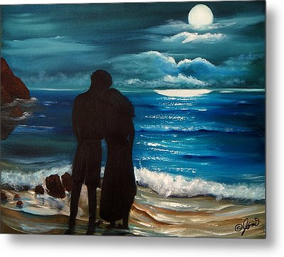 Moonlight Romance Metal Print