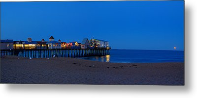 Moonrise In Old Orchard Beach Metal Print