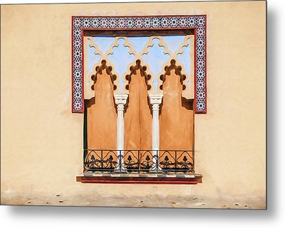 Moorish Window II Metal Print