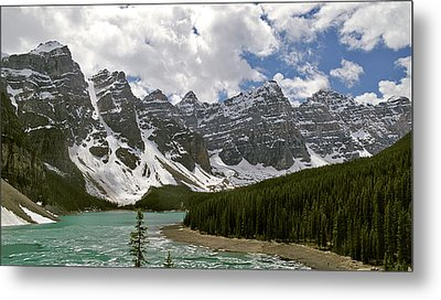 Moraine Lake Jasper National Park Landscape Photograph Canadian Rockies Metal Print by Larry Darnell