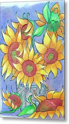 More Sunflowers Metal Print by Loretta Nash
