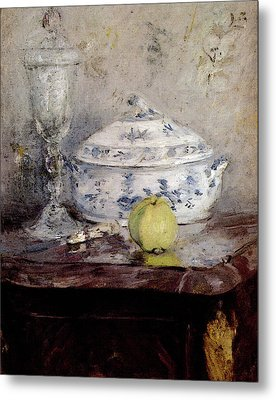 Morisot Berthe Tureen And Apple Metal Print