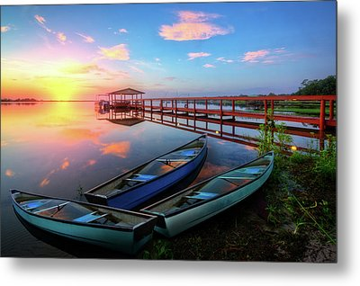Morning After The Rain Metal Print by Debra and Dave Vanderlaan