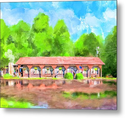 Morning After The Rain - Oglethorpe Barbecue Metal Print