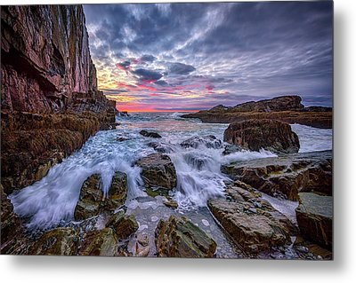 Morning At Bald Head Cliff Metal Print
