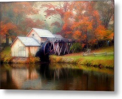 Morning At The Mill Metal Print by Darren Fisher