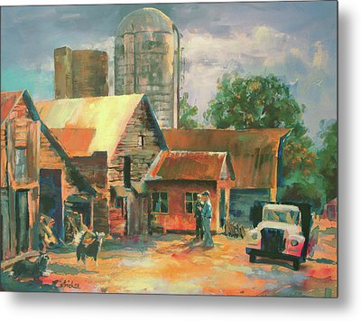 Morning Conference Metal Print by Carol Strickland