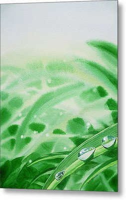Morning Dew Drops Metal Print by Irina Sztukowski