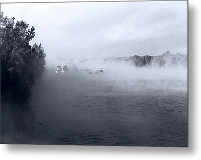 Metal Print featuring the photograph Morning Fog - Hudson River by John Schneider