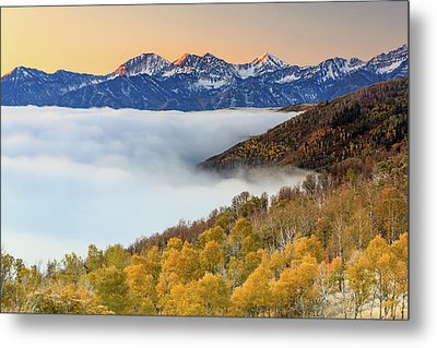 Metal Print featuring the photograph Morning Fog In The Southern Wasatch. by Johnny Adolphson