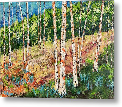 Metal Print featuring the painting Morning Grove by Chris Rice