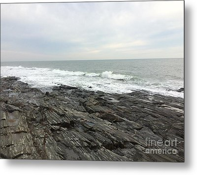 Morning Horizon On The Atlantic Ocean Metal Print by Patricia E Sundik