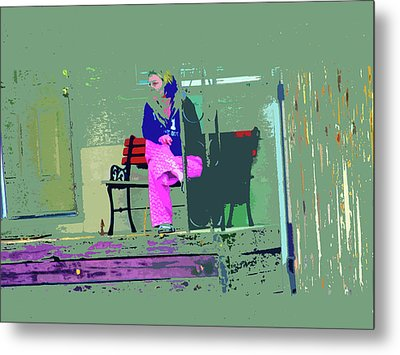 Morning In Her Pink Pajamas Metal Print by Lenore Senior