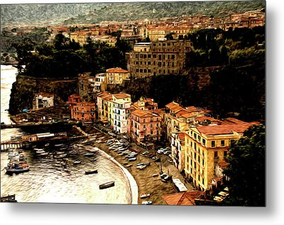 Morning In Sorrento Italy Metal Print by Xavier Cardell
