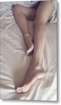 Morning Legs Stretching Metal Print by Tos Photos