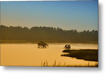 Morning On The Bay Metal Print by Bill Cannon