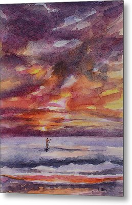 Morning Paddle Boarder 9-9-17 Metal Print