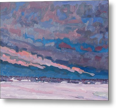 Morning Snow Clouds Metal Print by Phil Chadwick