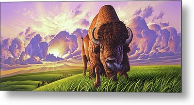 Morning Thunder Metal Print by Jerry LoFaro