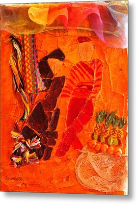 Moroccan Bazaar Metal Print by Lisabeth Billingsley
