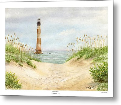 Morris Island Light House Metal Print by Lane Owen