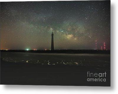 Morris Island Light House Milky Way Metal Print by Robert Loe