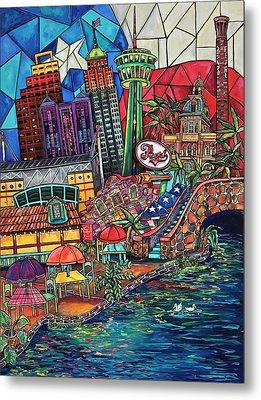 Mosaic River Metal Print by Patti Schermerhorn