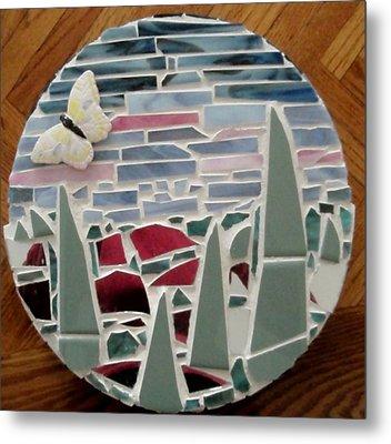 Mosaic Sailboats Metal Print by Jamie Frier