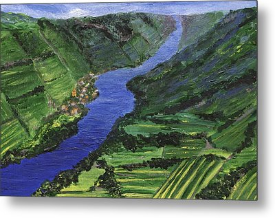 Metal Print featuring the painting Moselle River by Jamie Frier