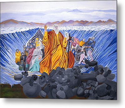 Metal Print featuring the painting Moses by Sima Amid Wewetzer